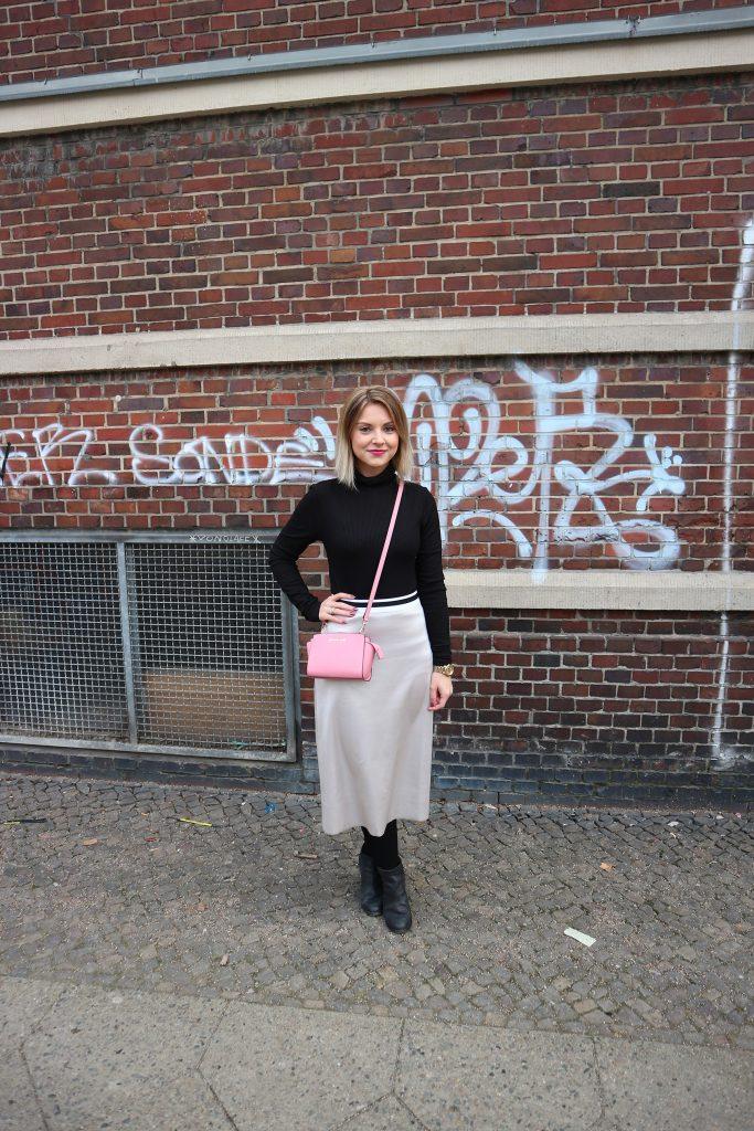 Ein Outfit mit Kompressionsstrümpfen von Juzo zur Fashion Week
