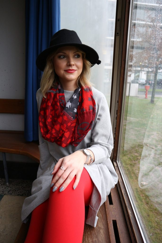 Ein Look mit der Juzo Expert in Happy Red