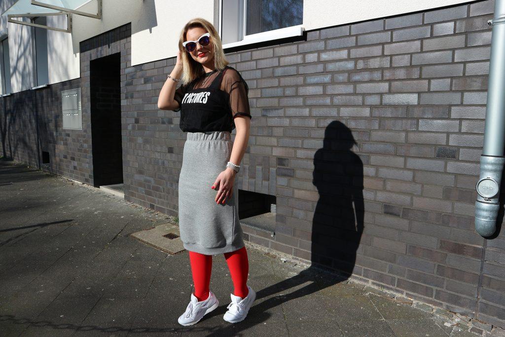 Ein sportliches Outfit mit der Juzo Expert in Happy Red