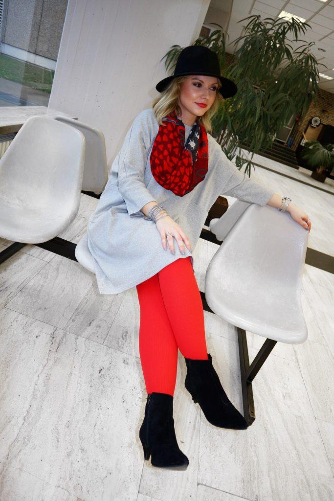 Ein Outfit mit der Juzo Expert in Happy Red