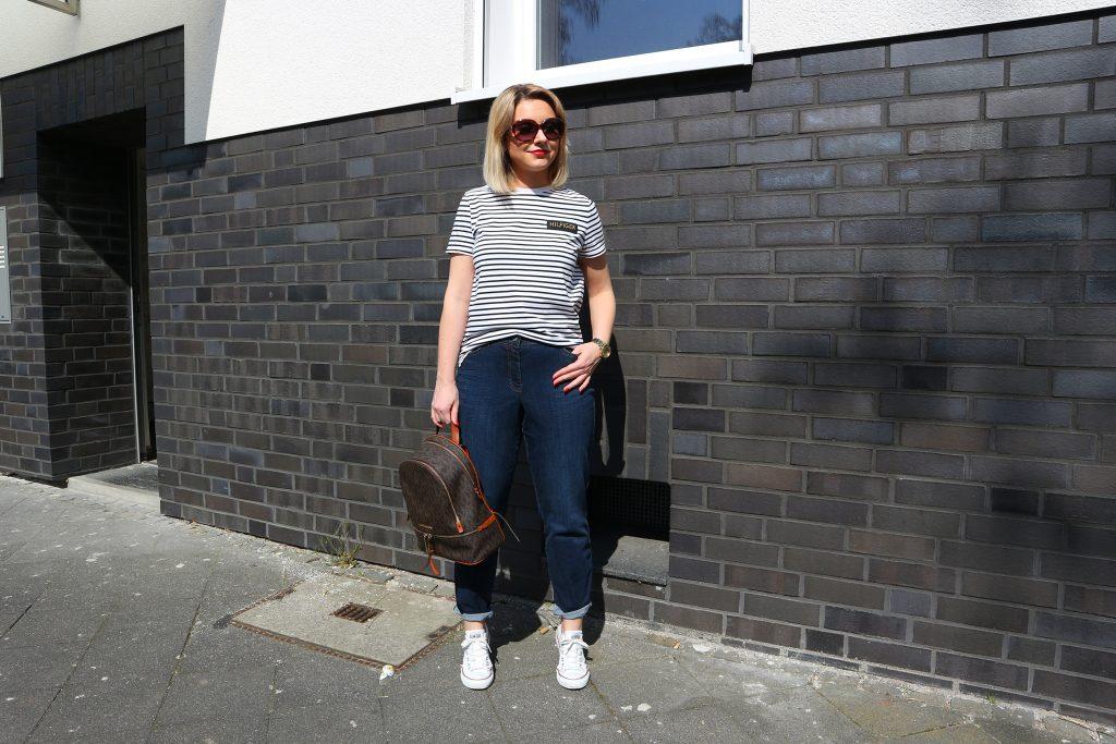 Ein Outfit mit der Jeans Lily Super Slim Powerdenim von Luna Largo